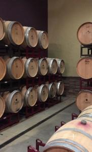 Barrel Room at Burntshirt Vineyards