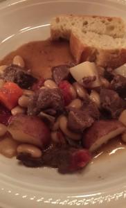 Warming winter white bean stew