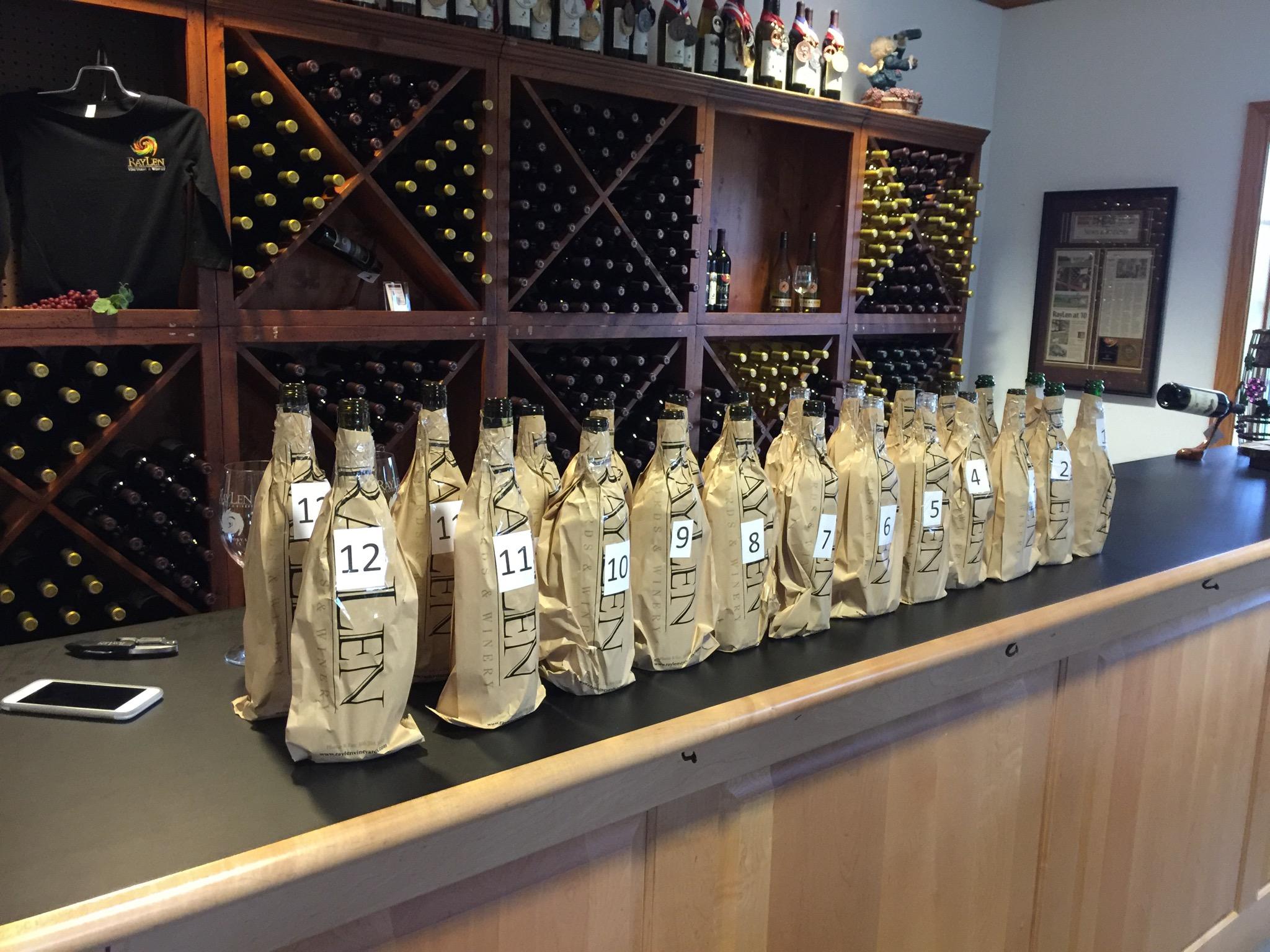 North Carolina Wine vs the World — a Blind Tasting at RayLen Vineyard