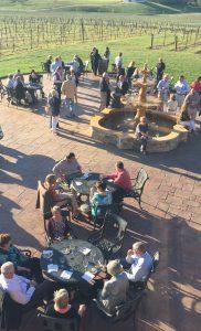 Guests Enjoying Antipasti al Fresco