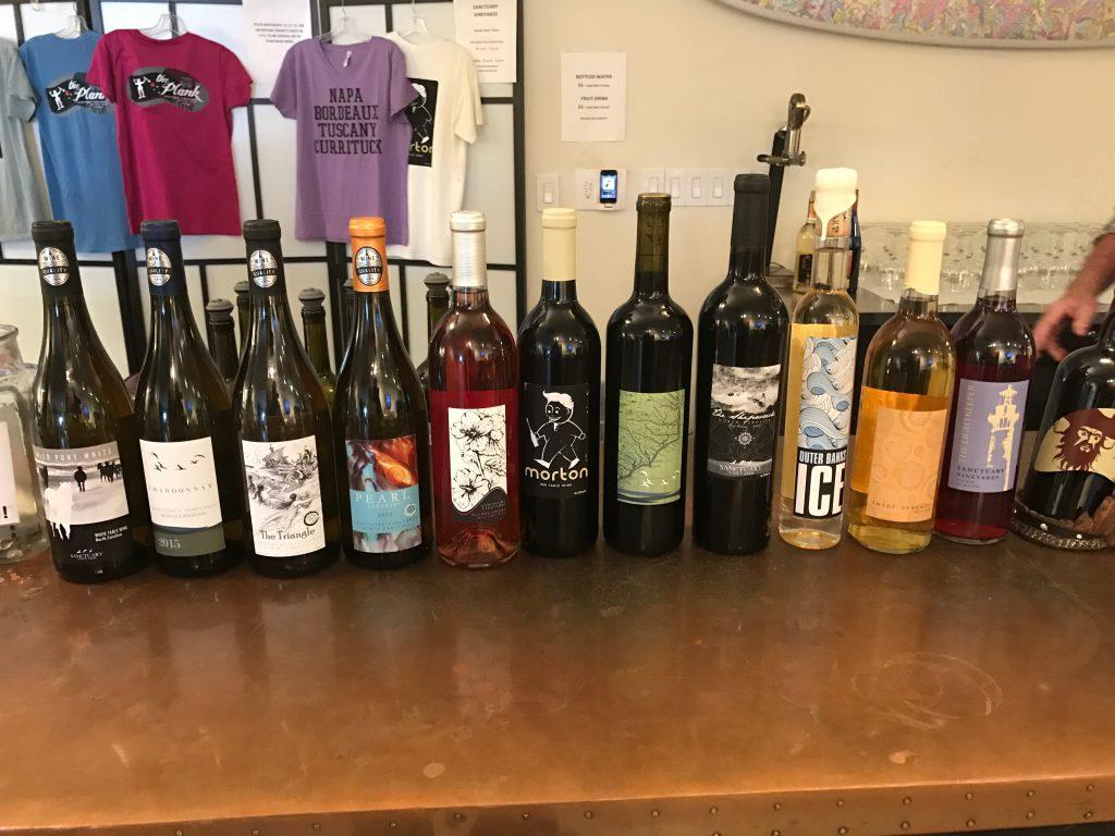 Sanctuary Vineyards Wine Lineup