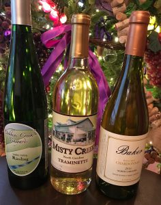 Holiday White Wines from North Carolina