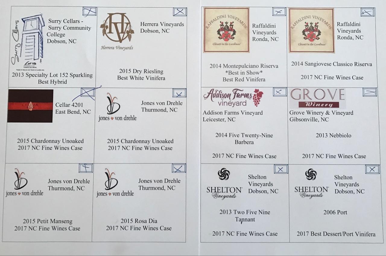 Showcase of North Carolina Fine Wines