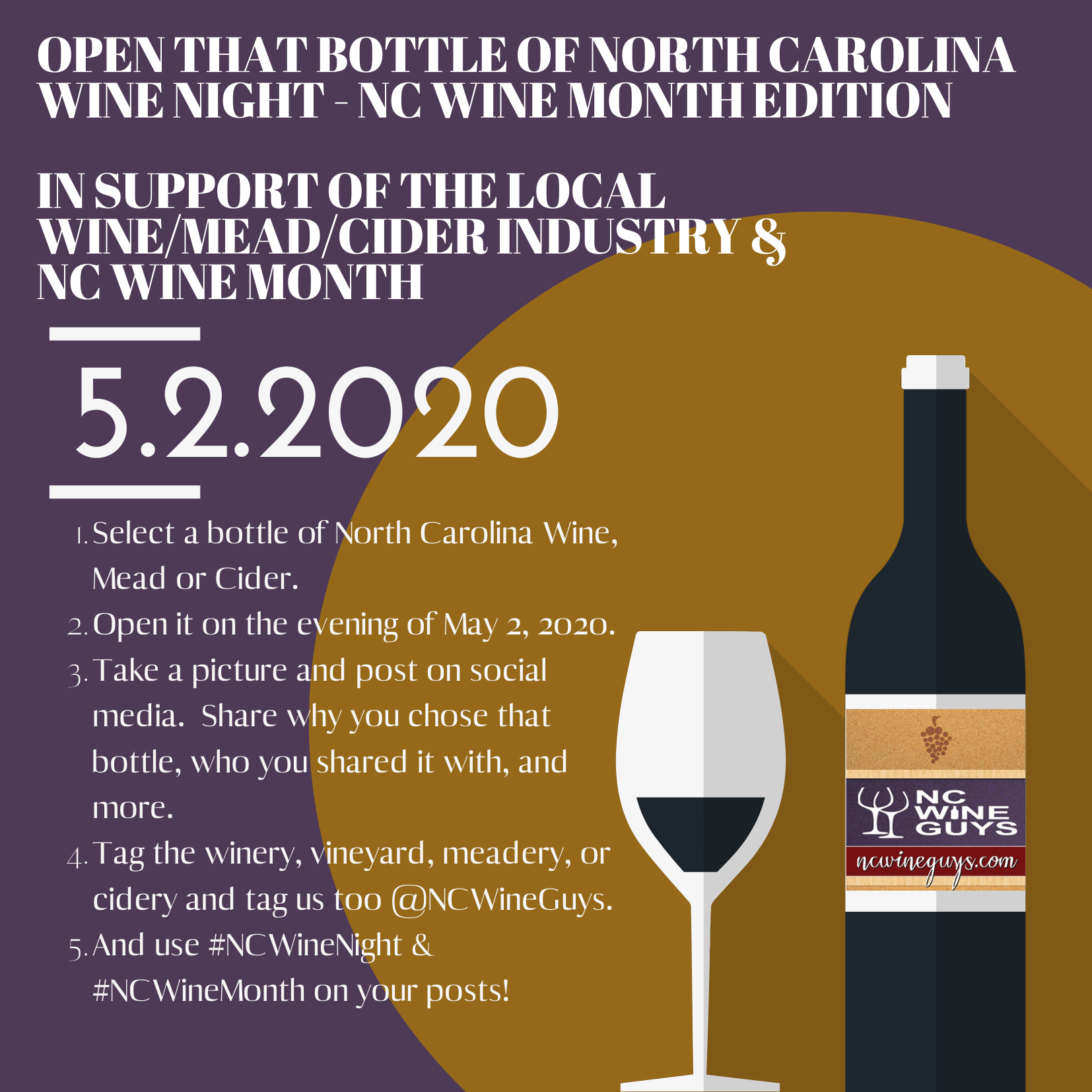 Open that Bottle of North Carolina Wine Night – NC Wine Month 2020 Edition
