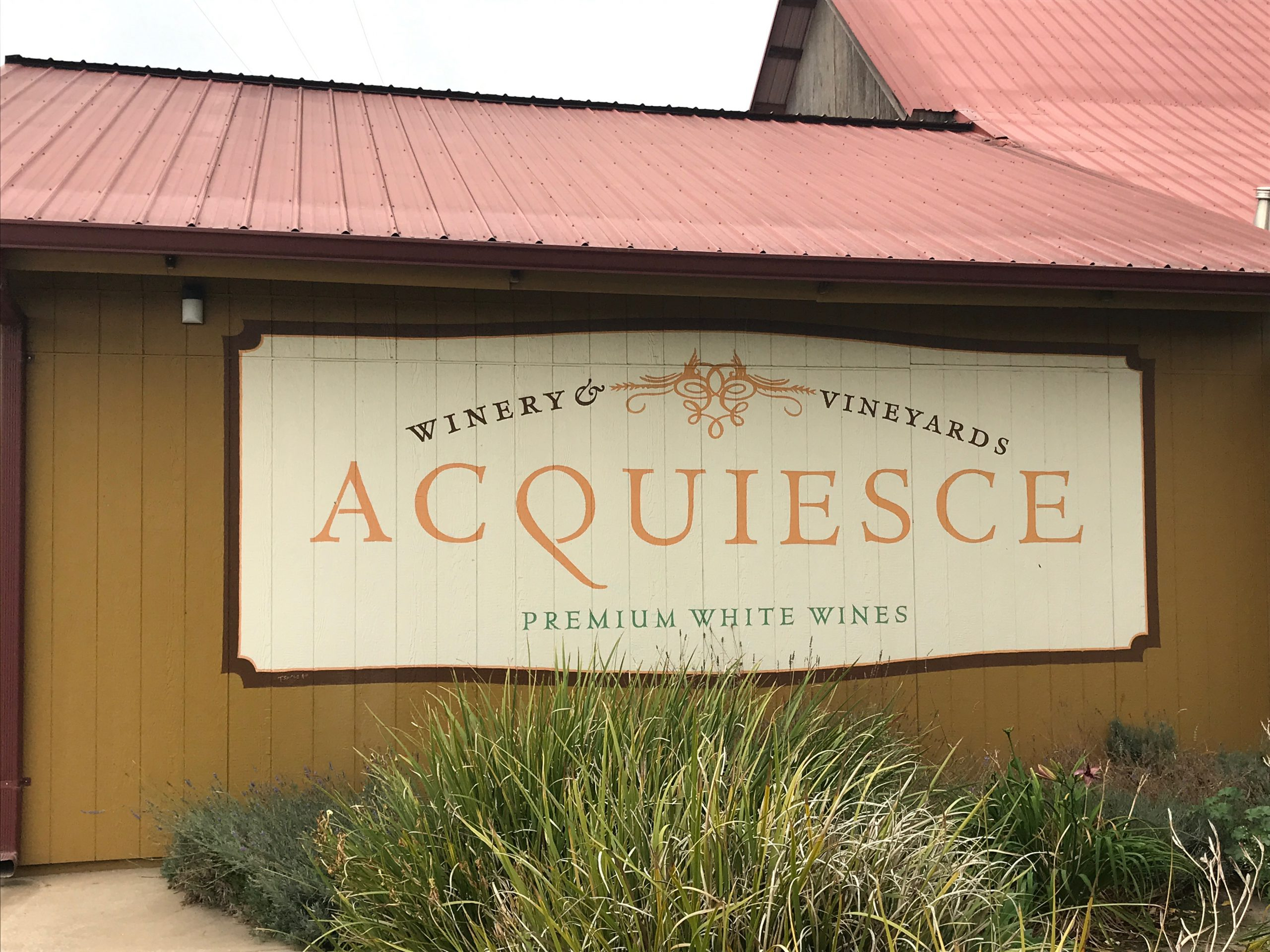 Acquiesce Winery – Two Wines for Thought
