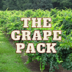 The Grape Pack superimposed on muscadine vines.