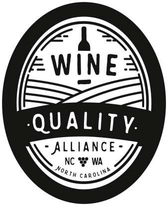 The seal of the North Carolina Wine Quality Alliance Program.